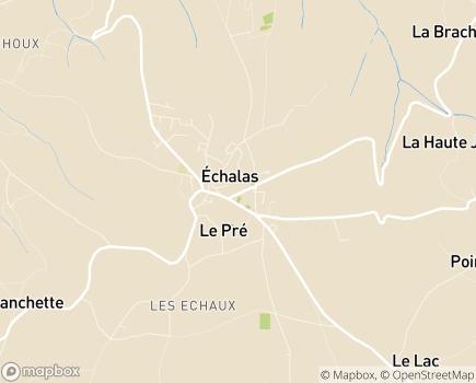 Localisation Korian Les Moussières - 69700 - Échalas