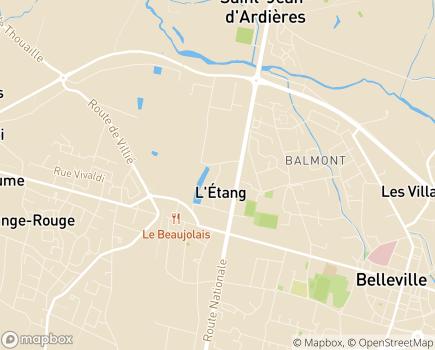 Localisation Le Clos Saint Jean - 69220 - Saint-Jean-d'Ardières
