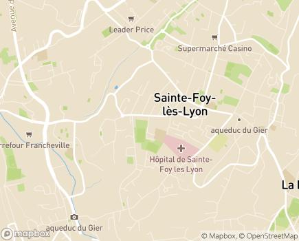 Localisation ABAQ Conseil en Management - 69110 - Sainte-Foy-lès-Lyon