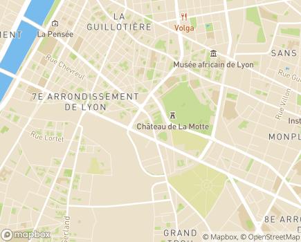 Localisation Domitys Le Pont des Lumières - Résidence avec Services - 69007 - Lyon 07