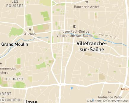Localisation Domidom Villefranche Aco Services - 69400 - Villefranche-sur-Saône