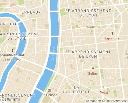Localisation Conseil Départemental du Rhône - 69483 - Lyon 03