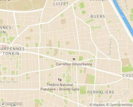 Localisation ONELA Agence de Villeurbanne - 69100 - Villeurbanne