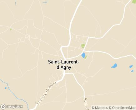 Localisation SESSAD Les Liserons - 69440 - Saint-Laurent-d'Agny