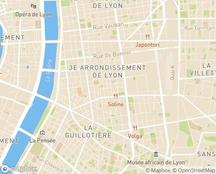 Localisation Apprentis d'Auteuil (Fondation Apprentis d'Auteuil) La Touline - 69003 - Lyon 03