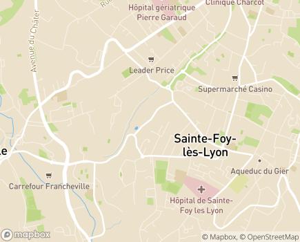 Localisation Korian - Clinique Le Balcon Lyonnais - 69110 - Sainte-Foy-lès-Lyon