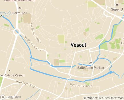 Localisation Conseil Départemental de la Haute-Saône - 70006 - Vesoul
