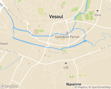 Localisation Caisse d'Allocations Familiales - 70005 - Vesoul