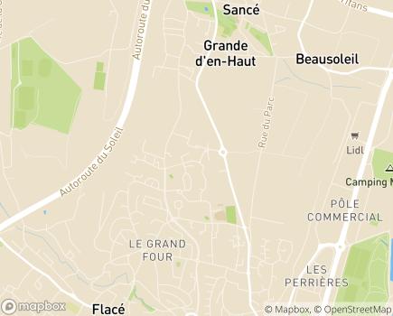 Localisation Etablissement des IMC Les Saugeraies - 71000 - Mâcon