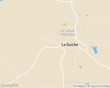 Localisation Centre Hospitalier de La Guiche - 71220 - La Guiche