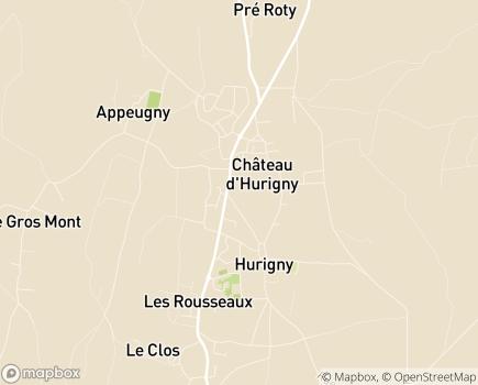 Localisation Korian - Clinique Le Tinailler - 71870 - Hurigny