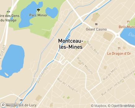 Localisation EHPAD Les Jardins Médicis - 71300 - Montceau-les-Mines