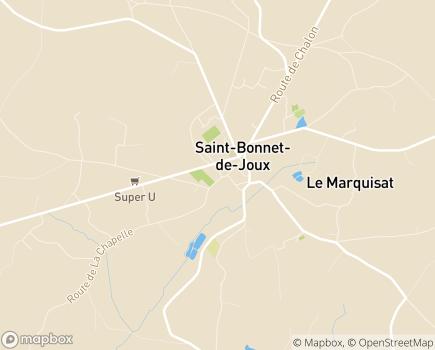 Localisation Résidence du Val de Joux Petite Unité de Vie - 71220 - Saint-Bonnet-de-Joux