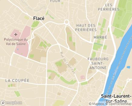 Localisation Etablissement de Soins de Suite et de Réadaptation Bel Air - 71000 - Mâcon