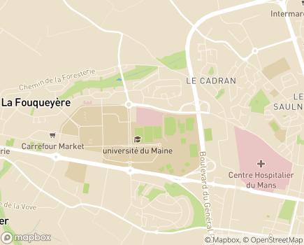Localisation Clinique du Pré - 72018 - Le Mans