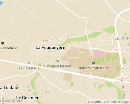 Localisation Domitys Le Vallon des Bois - Résidence avec Services - 72000 - Le Mans