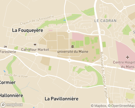 Localisation Résidence avec Services Les Girandières - 72000 - Le Mans
