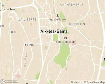 Localisation EHPAD Résidence Tiers Temps - 73100 - Aix-les-Bains