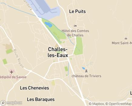 Localisation Etablissement Thermal - 73190 - Challes-les-Eaux