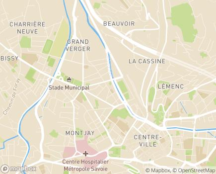 Localisation Ligue Nationale contre le Cancer - Comité de la Savoie - 73000 - Chambéry