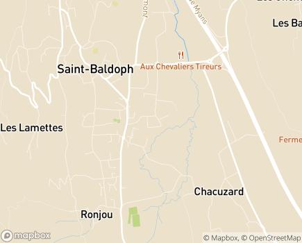 Localisation CDOM Conseil Départemental de l'Ordre des Médecins de la Savoie - 73190 - Saint-Baldoph