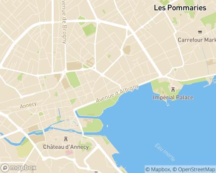 Localisation ARS Agence régionale de santé Délégation départementale de la Haute-Savoie - 74000 - Annecy
