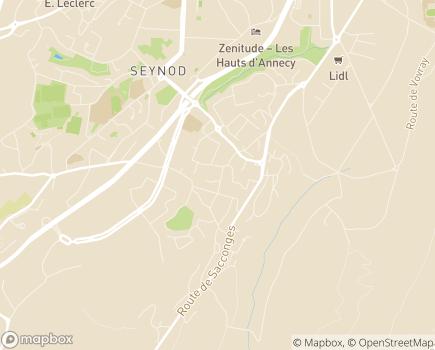 Localisation Emera - EHPAD Le Pré Fornet - 74600 - Seynod