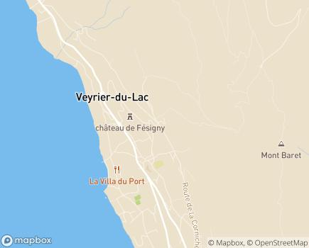 Localisation Annecia - 74290 - Veyrier-du-Lac