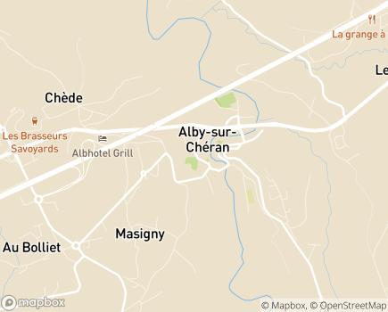 Localisation Service Intégré d'Accueil et d'Orientation (S.I.A.O.) - 74540 - Alby-sur-Chéran