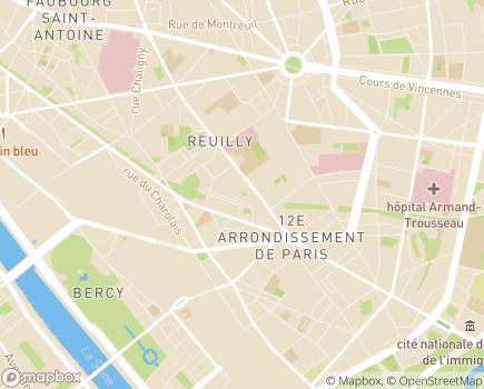 Localisation Les Ateliers de Jemmapes ESAT - 75012 - Paris 12