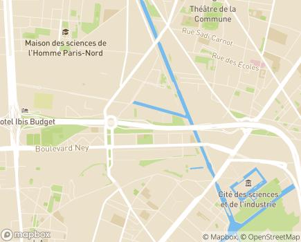 Localisation ARS Ile-de-France Délégation départementale de Paris - 75935 - Paris 19
