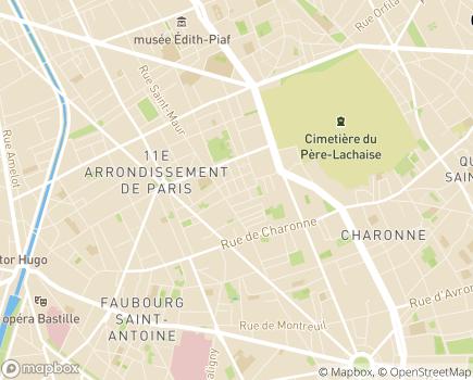 Localisation Institut d'Education Motrice Croix Faubin - 75011 - Paris 11
