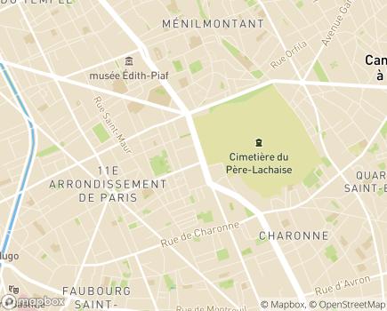 Localisation Centre Dumonteil ESAT Père Lachaise - 75011 - Paris 11