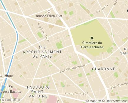 Localisation Services de Soins Infirmiers A Domicile AG11 - 75011 - Paris 11
