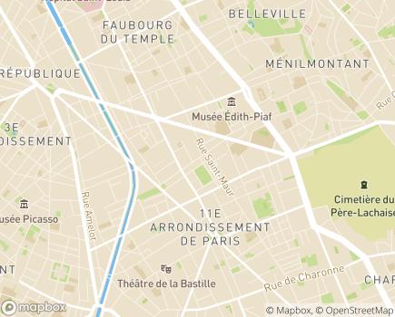 Localisation USSIF Union Soins et Services Ile-de-France, Pôle Maintien à Domicile - 75011 - Paris 11