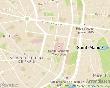 Localisation Hôpital Armand Trousseau (AP-HP) - 75571 - Paris 12