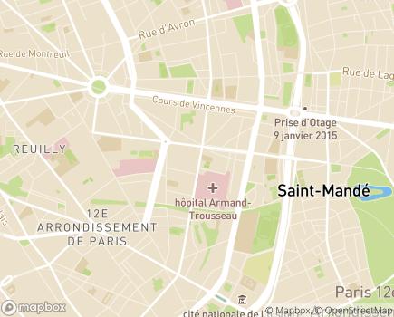 Localisation Centre de Réadaptation Professionnelle Suzanne Masson - 75012 - Paris 12