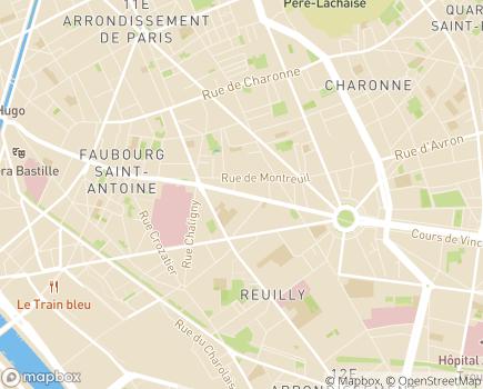 Localisation APSSAD Association Polyvalente de services, de Soins et d'Accompagnement à Domicile - 75012 - Paris 12