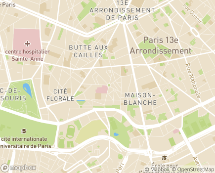 Localisation Hôpital  Privé des Peupliers (Ramsay - Générale de Santé) - 75013 - Paris 13