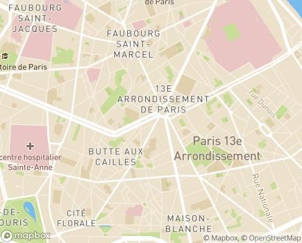 Localisation APF France Handicap - Atelier Blanqui - Entreprise Adaptée - 75013 - Paris 13