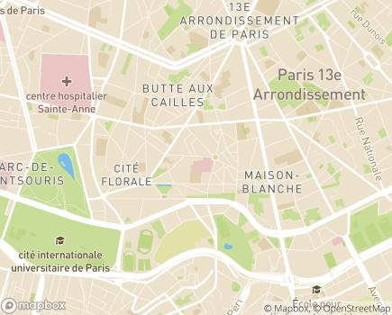 Localisation ESAT de L'Elan - 75013 - Paris 13