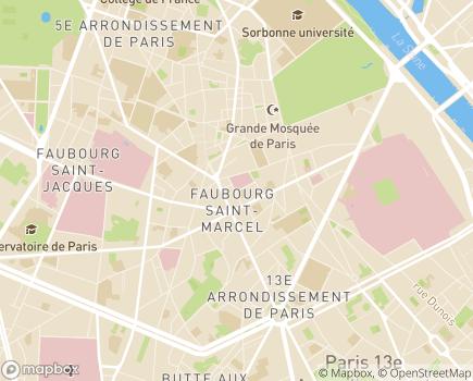 Localisation Hospitalisation à Domicile AP-HP - 75005 - Paris 05