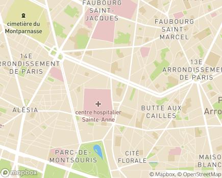 Localisation Centre Hospitalier Sainte-Anne - 75674 - Paris 14