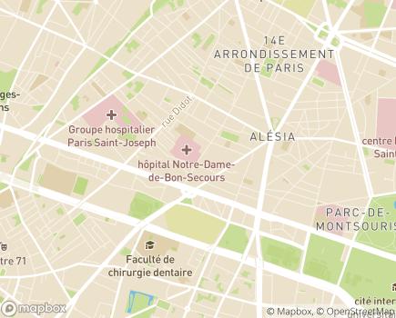 Localisation Association Notre-Dame de Bon Secours - 75014 - Paris 14