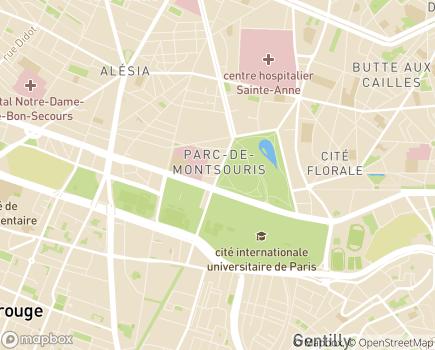 Localisation Fondation Santé des Étudiants de France (FSEF) - 75014 - Paris 14