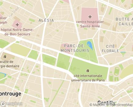 Localisation Institut Mutualiste Montsouris - 75674 - Paris 14