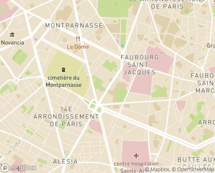 Localisation Association Oeuvres d'Avenir - 75014 - Paris 14