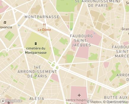 Localisation Maison d'Accueil Spécialisée Notre Dame de Joye - 75014 - Paris 14
