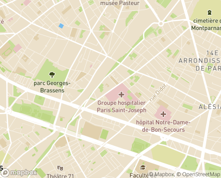 Localisation C.A.S.C.A.D.E. Centre d'Aide, de Services et de Confort à Domicile - 75014 - Paris 14