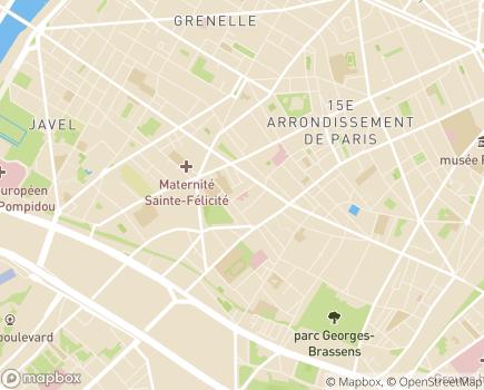 Localisation Hôpital Cognacq-Jay - 75015 - Paris 15
